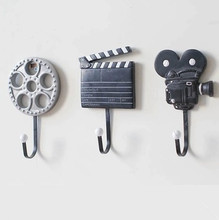 Resin film equipment model Coat Hook 3PCS/SET Nostalgic wind Retro decorative hooks wall Towel Hanger
