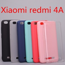 Xiaomi redmi 4A case cover Silicone TPU case for Xiaomi redmi 4A Ultra thin Crystal and solid colors Soft