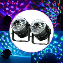 2x LED RGB DJ Club Disco Party Magic Ball Crystal Effect Light Stage Lighting led module lighting effects cheap led lights PML