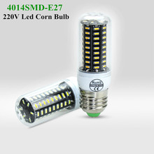 Ultra Bright High Lumens  E27 LED Bulb 4014 SMD LED Corn bulbs Chandelier AC220V 38leds 55leds 78leds 140leds LED bulbs lights