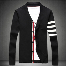 M-5XL!The new spring 2015 men's fashion high-grade large size men's cultivate one's morality single-breasted v-neck men cardigan