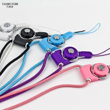 Mobile phone rope lanyard strap Detachable key phone case breast plate neck rope buckle ring rotary rope for iphone huawei