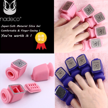 1 set New design Japan-Soft Material Silica gel comfortable & finger saving Nail Remover Tube professional nail art tools