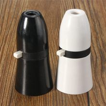 New B22 Standard Lamp Holder With Switch UK Plug Light Socket Bayonet Cap Fitting Bulb Adapter 250V 2A White/Black Lamp Bases(China)