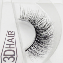 1 pair 3d mink lashes wholesale Lilly 100% real mink fur Handmade crossing lashes individual strip thick lash 12