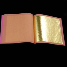 50 sheets in 2 booklets  8.5x8.5cm genuine 24K gold leaf gilding decoration Gold mask and so on  free shipment