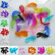 Hot!  200pcs 11 colors  feathers 5-8cm goose feather plumage  for wedding hat hair accessories craft making