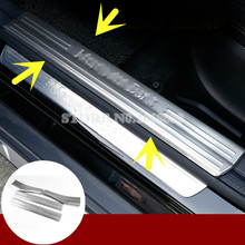 Stainless Inside Door Sill Scuff Plate 4pcs For Benz CLA C117 W117 2014-2017