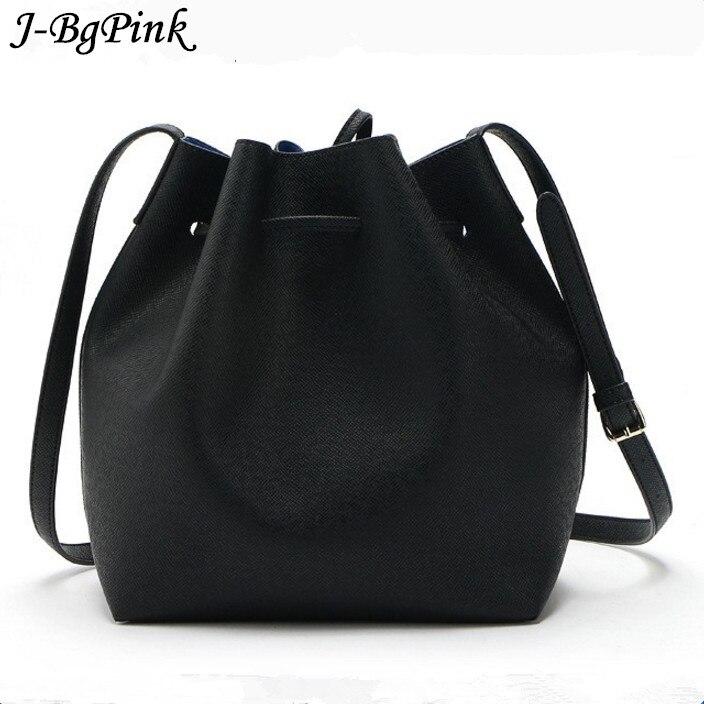 Mansur Gavriel Bucket bag women Pu Leather String Shoulder bag Luxury Bags Famous Designer With<br><br>Aliexpress