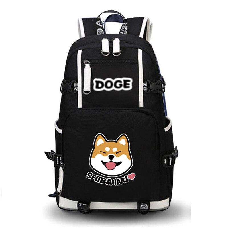 2017 High Quality Shiba Inu Kawaii Doge Emoji Printing Backpack School Bags Mochila Feminina Laptop Backpack Schoolbag Backpack<br>