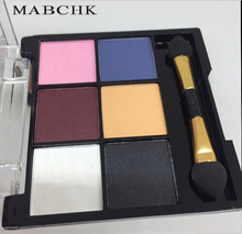 Wholesale Colorful Pearlescent 6-color soft and elegant eye shadow smoke smoked makeup earth color pearl eye shadow
