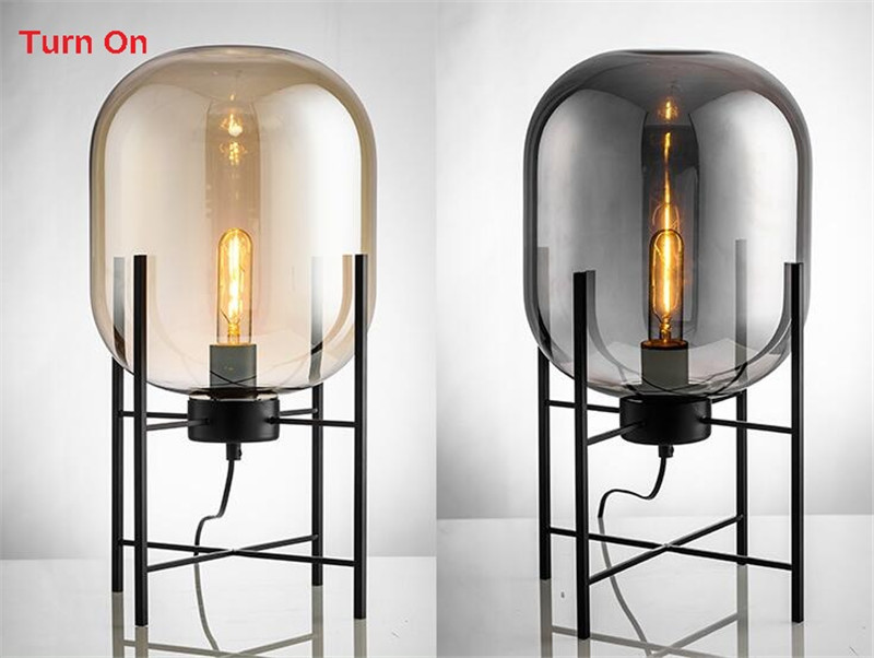 Nordic Style Glass Floor Lamp Retro Melon Floor Lights Fashion Design Glass Table Lamps Lights for Living RoomCountry HouseBar (28)