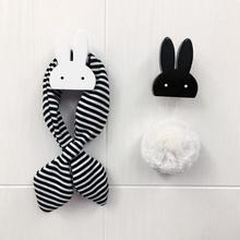 1 pc Cute Bunny Wooden Hook For Kids Room Wall Decoration Rabbit Wooden Hanger Hook For Coat/Hat /Bag Rack 4(China)