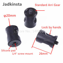 Jadkinsta Aluminum Anodized Arri Gear Connector Hand Wheel Gear Head Holder for DJI OSMO Handle Extension SLR Black 1/4(China)