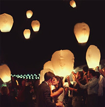 Oval shape 11pcs/lot wedding flying paper sky lanterns with pre-attached fuel party decorations 8 colors free shipping