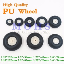 4pcs/lot high quality 1.25 inch - 3 inch PU wheel rc airplane wheels rc aircraft gasoline electric airplane aircraft pu wheels(China)