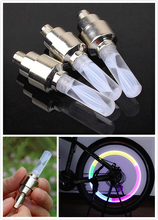1pcs 7 Color Bike Lights MTB Mountain Road Bike Bicycle Lights LED Tyre Tire Valve Caps Wheel Spokes LED Light Free Shipping