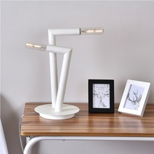39cm Height Tube Table Lamp by Mack Della, 1996 Metal Lacquered in Black and White(China)