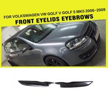 Golf Car-Styling Carbon Fiber Car Front Headlight Eyebrows Eyelid Trim Volkswagen VW 5 V MK5 & GTI R32 2006-2009 - JC Sportline Auto Parts Ltd. store