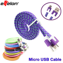 Effelon Micro USB Cable 1M 2M 3M Cable USB Data Sync Fabric Woven Charger for Smart Phone for tablet PC Microusb Charging Cable