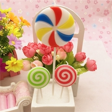 Birthday Candle wedding decor cartoon lollipop smokeless scented candle making(China)