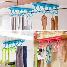 1PC Fashion Style Storage Holders Kitchen Cupboard Cooking Tools Hanger Rack Ceiling Hanging Rack Hooks Kitchen Accessories(China)