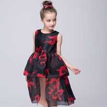 Autumn And Winter Girl Rose Princess Fashion Girls Dress Holiday Party Wedding Toddler New Year Pageant Sunny