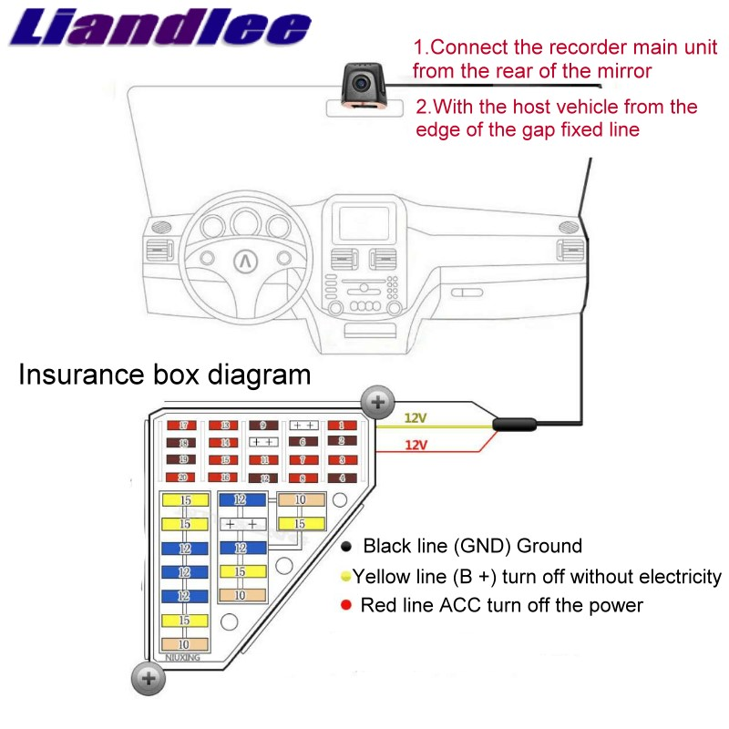 Liandlee For Land For Rover LR Discovery 4 L319 LR4 2009~2016 Car Black Box WiFi DVR Dash Camera Driving Video Recorder 03