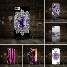 Purple Sparkly Bling cell phone Case Cover For Samsung Galaxy A3 A5 A7 J3 J5 J7 2016 2017 J1 J2 A8 A9 E5 E7 C5 C7 ON5