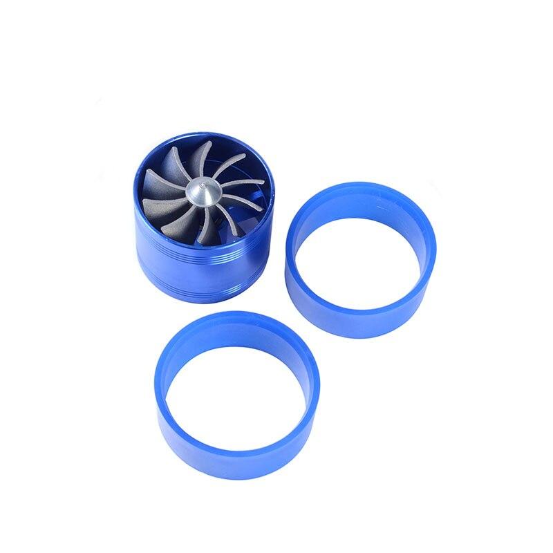 Turbocharger Fan Turbine Gas Fuel Saver Turbo Color : Blue Supercharger Power Air Intake Turbonator Dual Fan