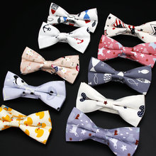 Men's Adjustable Formal 100% Cotton Vintage Animal Print Bow Tie Butterfly Bowtie Tuxedo Bows Groom Prom Party Accessories Gift(China)