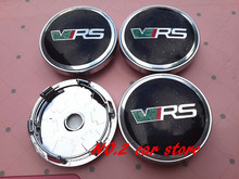 4pcs High quality 60mm VRS RS Wheel Center Hub Caps Wheel Dust-proof emblem covers car styling auto accessories(China)