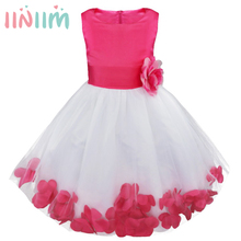 Flower Girl Kids Dress Formal Party Ball Gown Prom Bridesmaid Wedding Clothes Dresses for Girl Children's Clothing Holiday Dress(China)