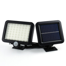 2017 Hot Selling Solar Led Powered Garden Lawn Lights Outdoor Infrared Sensor Light 56 LED Solar Motion Detection Wall Light(China)