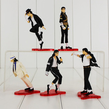 5pcs/lot 9-11cm Michael Jackson Figure Toy Dancing MJ Model Doll With Cool Pose Pace for Collection