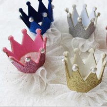 Modern Ornament Accessories Baby Girl Hairpin Crown Pearl Princess Hair Clip for Kids Party Accessories Headwear