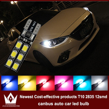 GuangDian 4x Auto LED CANBUS For Mazda 2 3 6 323 5 626 Axela cx-5 mx5 demio cx-7 T10 w5w 2835 12smd Clearance Lights Width lamp(China)