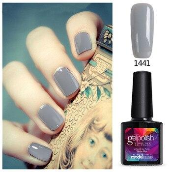 2017 Modelones Gel Polish Hot Sale Summer Color Gel Nails Polish Soak Off Nail Art Grey UV Nail Gel Polish Led Lamp Nail Glue