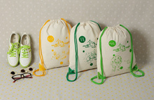 Cotton Sports bag Athletic Bags Track shoes filling pouch Drawstring hiking Backpack