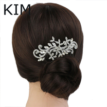 Fashion Vintage Inspired Bridal Flower Clear Austrian Crystal Wedding Hair Comb Pieces for Bridesmaids