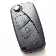 3 Three Replacement Black Button Car Remote Folding Flip Key Shell Case For Fiat key fob cover Without chip inside