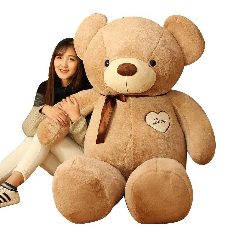 80cm Large Teddy Bear Plush Doll Stuffed Soft Toy Cute Huge White Bear Wear Bowknot Kids Toys Birthday Gift for Girl 2017 C43<br><br>Aliexpress