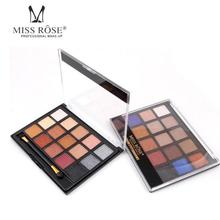 Miss Rose 15 Colors Shimmer Eyeshadow Pigmented Diamond Glitter Eye Shadow Flash Smoky Eyeshadow Y2(China)