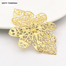 Buy 20pcs/lot 58x42mm Gold color/White K/Antique bronze Metal Filigree Flowers Slice Charms base Setting DIY Jewelry Components for $2.18 in AliExpress store