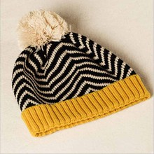 2017 New New Lovely Zebra Stripe Children Knitted Cap Boys Girls Baby Autumn Winter Wool Hat(China)