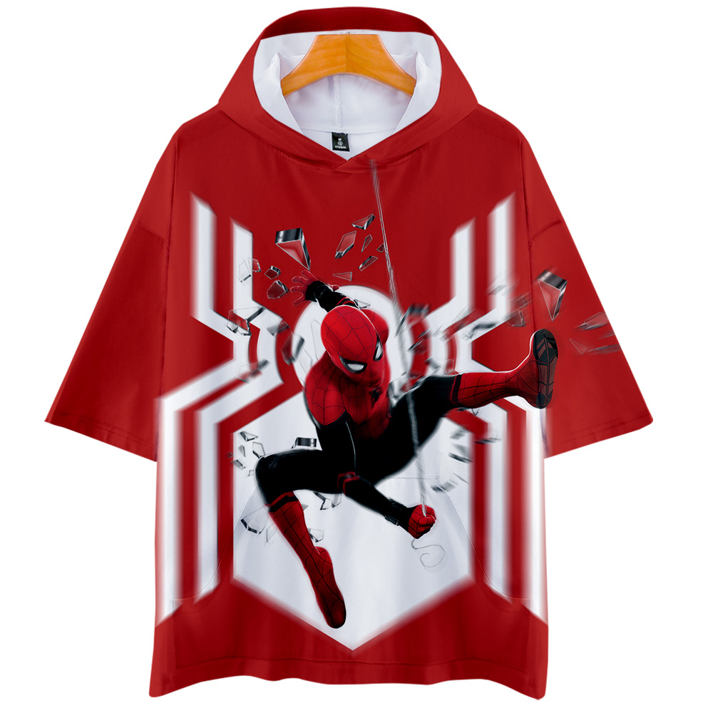 Spider man far from home3D Hoodies 2019 New Short sleeve Fashion Summer/Spring T-shirt Cool and breathable Short Sleeve T-Shirt