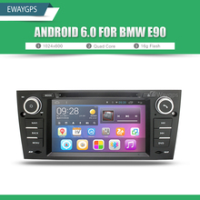 Quad Core Android 6.0 Car DVD Player Stereo For BMW E90 1024*600 Bluetooth gps navigation Wifi Steering Wheel EW803P6QH