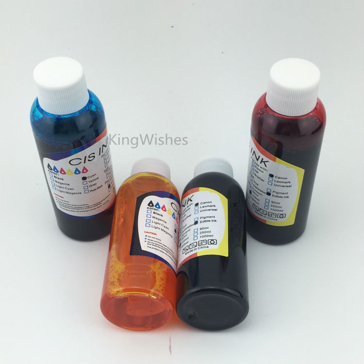 Promotion Sell 100ML x 4PCS T1031 T1032 T1033 T1034 Edible Ink For Epson T40W TX600FW TX550W TX610 BK C M Y<br><br>Aliexpress
