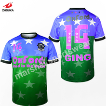 full sublimation custom OEM soccer football jersey t-shirt thai quality(China)