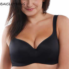 BAICLOTHING Womens No-poke Big Size Full Coverage Underwire Contour Balconette T-Shirt Bra 34 36 38 40 42 44 B C D DD DDD/E(China)